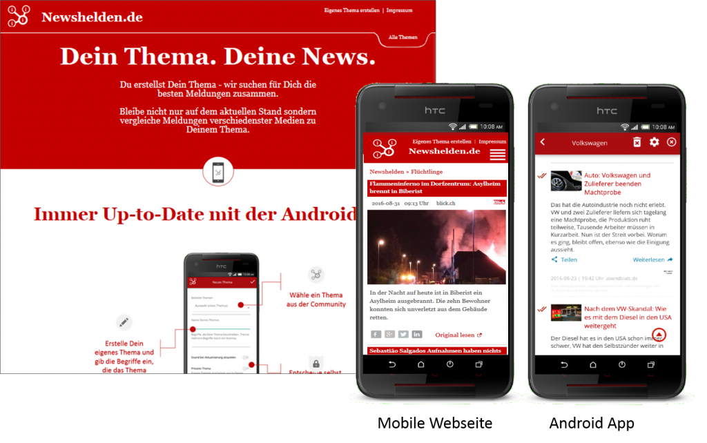 Newshelden (Web und App) - all news for your topic